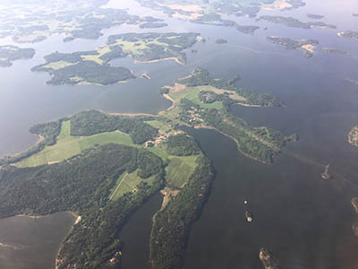 Photo of islands from above