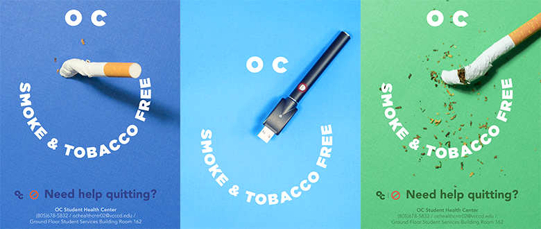 "image of poster for ""OC, Smoke & Tobacco Free"""
