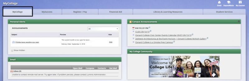 My College Tab