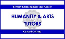 Blue sign. Top says Library Learning resource Center. Middle