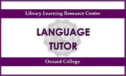 Purple sign. Top says Library Learning resource Center. Midd