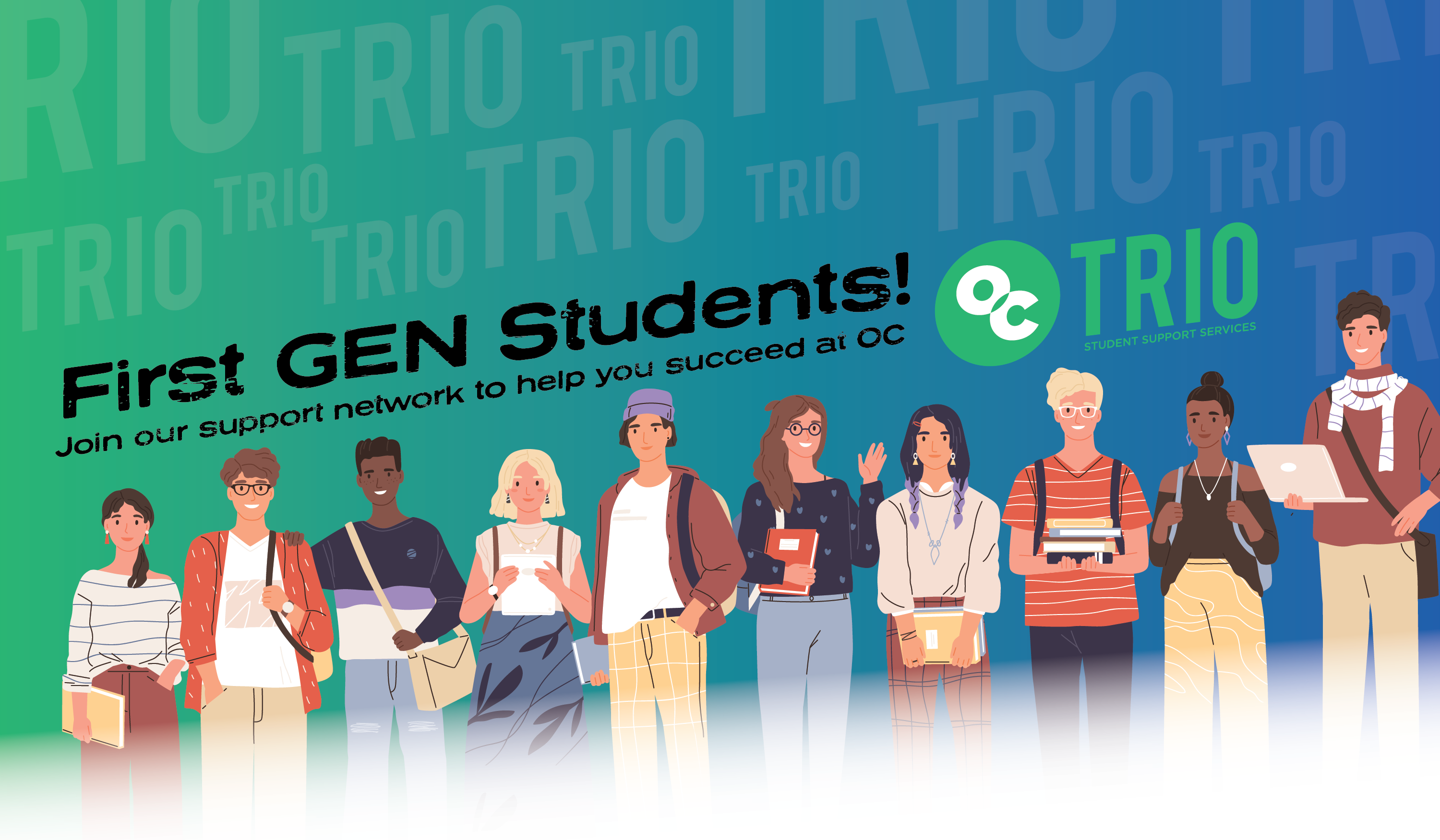 First gen students join our support network to help you succeed