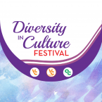 Decorative graphic with text that reads: Diversity in Culture Festival