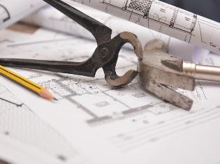 engineering tools and blueprints