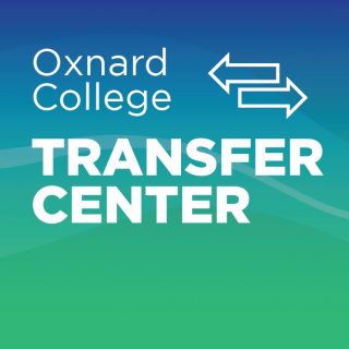 Graphic of two directional arrows, pointed at different directions, with text that reads:Oxnard College Transfer Center